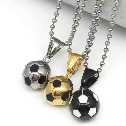 Dije Balón De Fútbol Soccer Acero Inoxidable