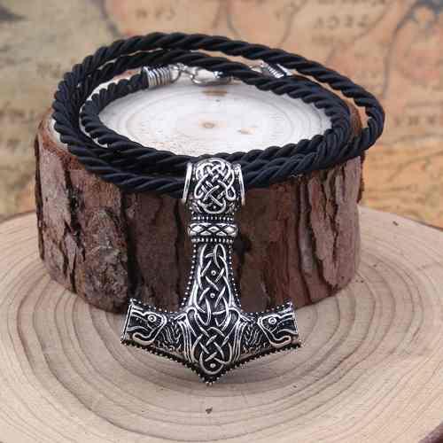 Dije Collar Vikingo Mjolnir Martillo Thor Metal Rock