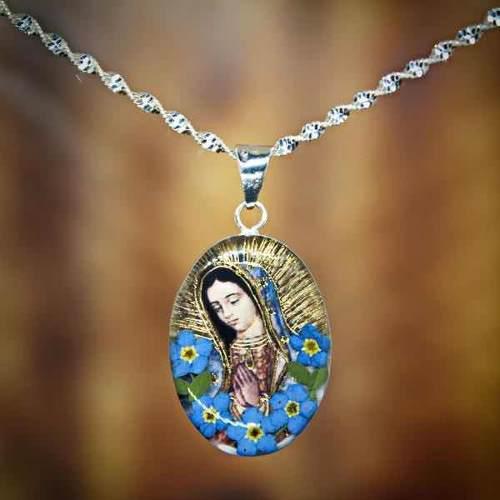 Dije Collar Virgen De Guadalupe En Plata Tami Joyeria