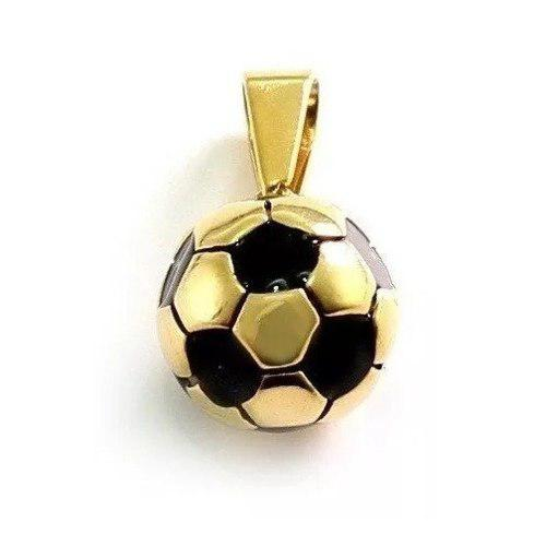 Dije De Balon De Futbol Soccer Dorado De Acero Inoxidable