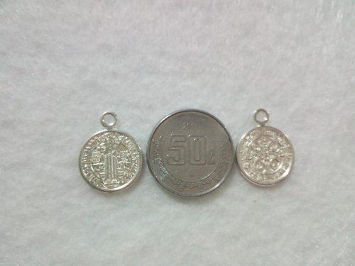Dije De Metal Medalla De San Benito Para Bisutería