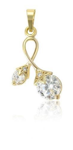 Dije De Oro Con Zirconias Calidad Diamante + Obsequio