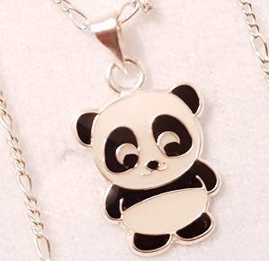 Dije De Oso Panda De Plata 925 De 1.5 Cm Sin Cadena Envio Gr