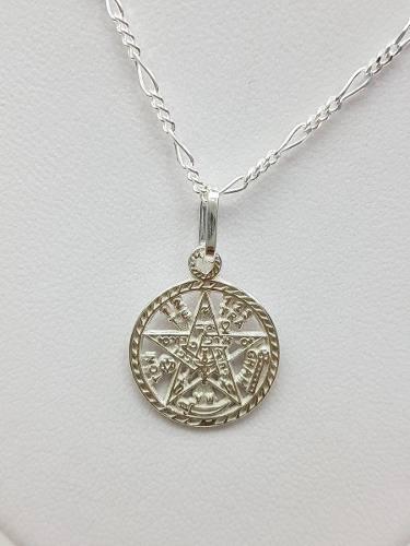 Dije De Tetragramaton Mediana Plata Ley.925 Incluye Cadena