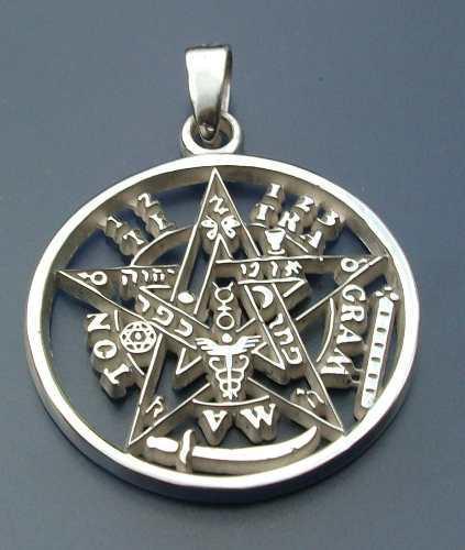 Dije De Tetragramaton Pentagramaton En Plata Ley.925