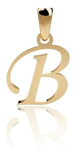Dije Inicial Letra B Oro 14 K + Obsequio + Envio