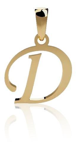Dije Inicial Letra D Oro 14 K + Obsequio + Envio