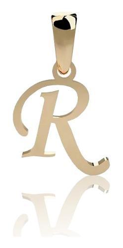 Dije Inicial Letra R Oro 14 K + Obsequio + Envio
