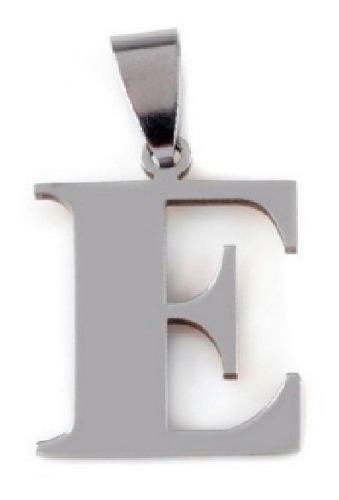 Dije Letra Alfabeto Inicial Con Cadena Acero Inoxidable