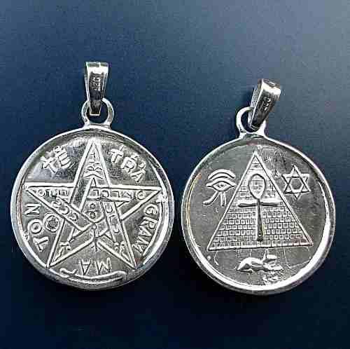 Dije Medalla Egipcia Y Tetragramaton En 1 Plata Ley.925