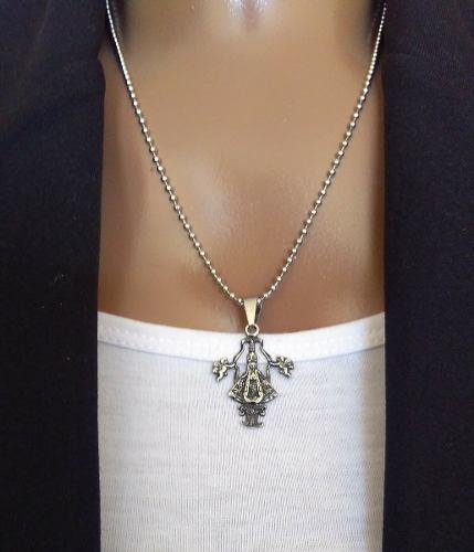 Dije Medalla Virgen De San Juan De Los Lagos Acero 316 L