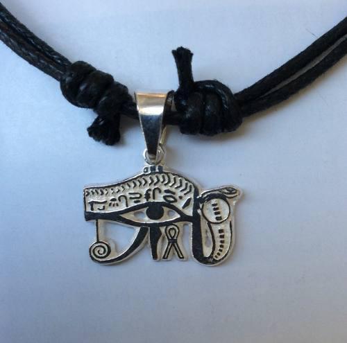 Dije Ojo De Horus Mini Protección Egipcia En Plata Ley.925