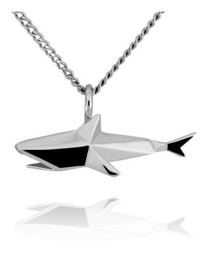 Dije Origami Tiburon De Plata