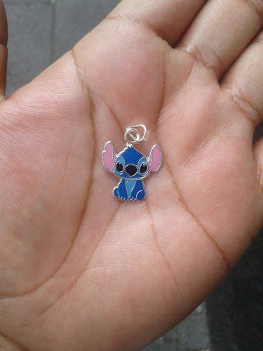 Dije Stitich Azul Plata925
