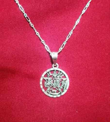 Dije Tetragramaton Con Cadena De Plata Ley 925