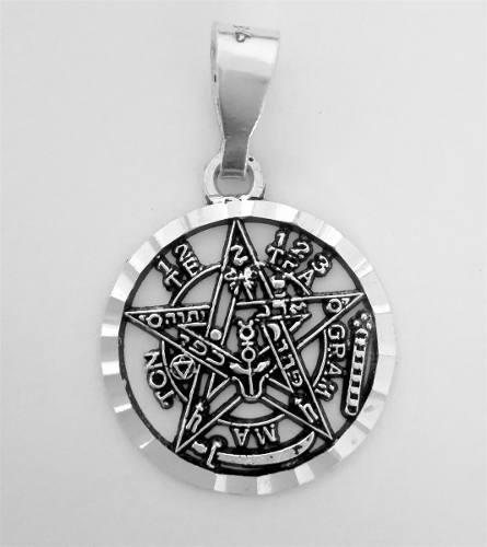 Dije Tetragramaton Curado Con Luna Llena De Plata 925