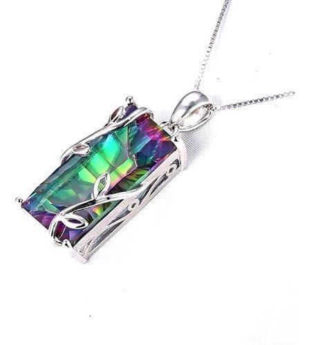 Dije Topacio Místico Natutral 13.5 Cz Ak Jewelry Plata 925