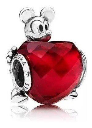Disney Mickey Love Heart Charm Pandora Plata S925 Ale