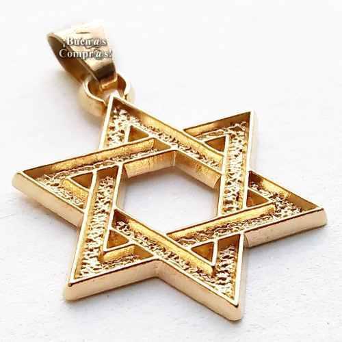 Estrella De David / Chapa De Oro Garantizada Y Con 7 Metales