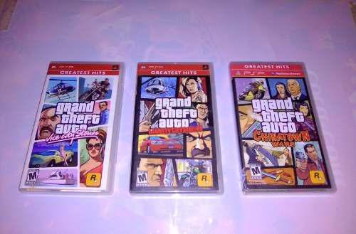 Excelente Trilogía Juegos Grand Theft Auto - Umd Psp