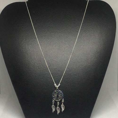 Gargantilla Collar Atrapa Sueños De Plata Ley 925 Cl05
