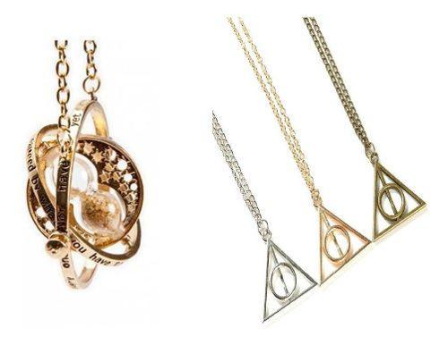 Giratiempo Harry Potter + 2 Collar Reliquias De La Muerte