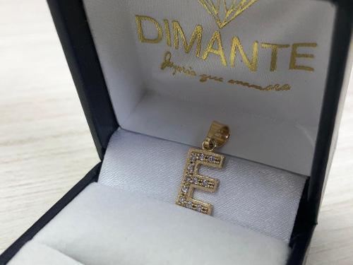 Inicial Oro 10k Letra E Zirconia Calidad Diamante Envio