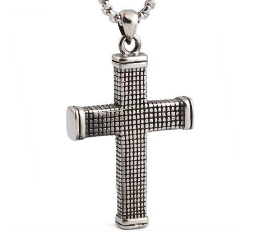 Jesús Cristo Cruz Crucifijo Dije Cadena Acero Inox Unisex