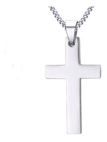 Jesucristo Cruz Crucifijo Dije Cadena Acero Inox Unisex