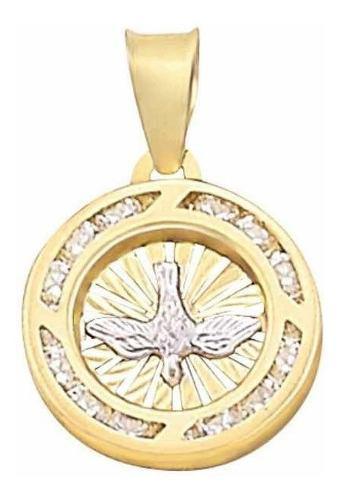Medalla Bautizó Espíritu Santo Oro 10 K + Obsequio + Envio