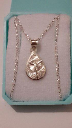 Medalla De Cristo De Plata En Gota De 1 Cm Para Bautizo