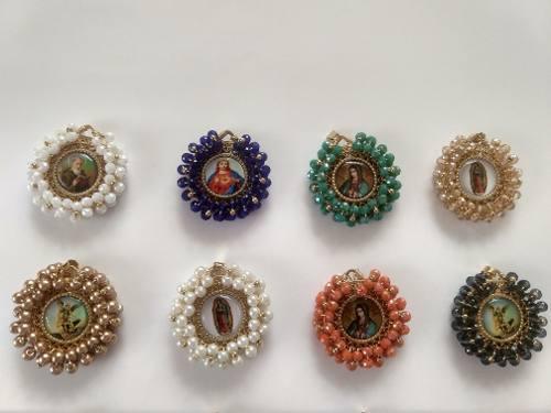 Medalla De Virgen De Guadalupe Con Cristales O Perlas