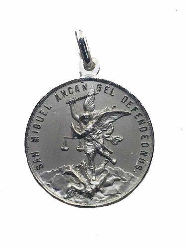 Medalla Plata 925 San Miguel Arcángel #334 Bautizó