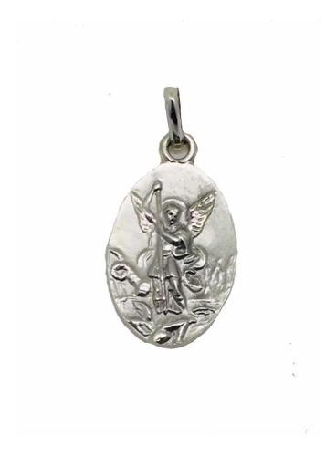 Medalla Plata 925 San Miguel Arcángel Bautizó Comunión