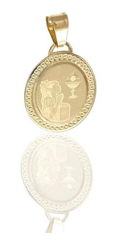 Medalla Primera Comunión Niña Oro 14 K + Obsequio