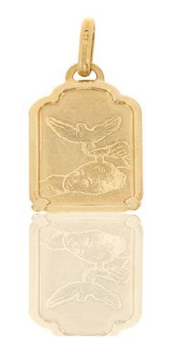 Medalla Rectangular Bautizo Oro 14 K + Obsequio