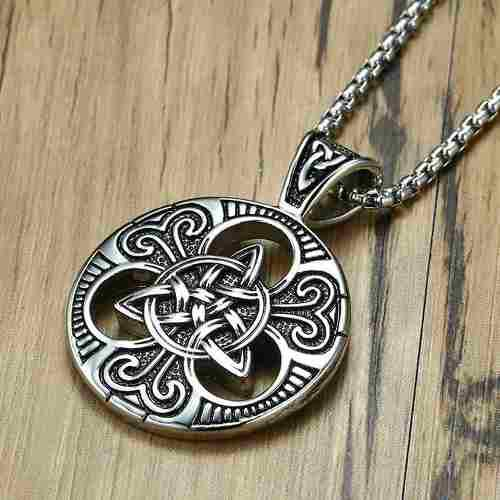 Medallón Amuleto Celta Dije Colar Acero Inoxidable Unisex