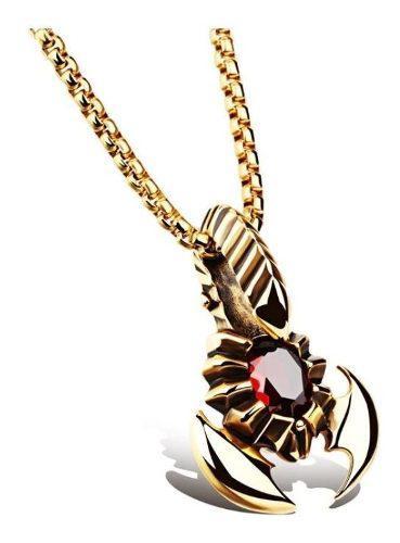 Muy Varonil !!! Collar De Escorpion Regalo Hombre Novio Amor