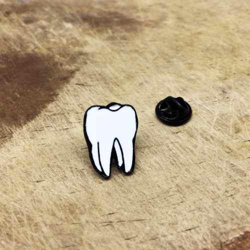 Pin Muela Diente Pin Dentista Doctor Broche Odontólogo