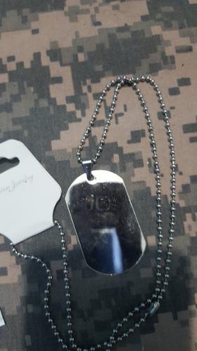 Placa De Identificacion Para Grabar Dog Tag Militar Tactico