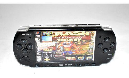 Psp Slim Negro Modelo 3010 32gb Sony Portatil Recarga Juegos