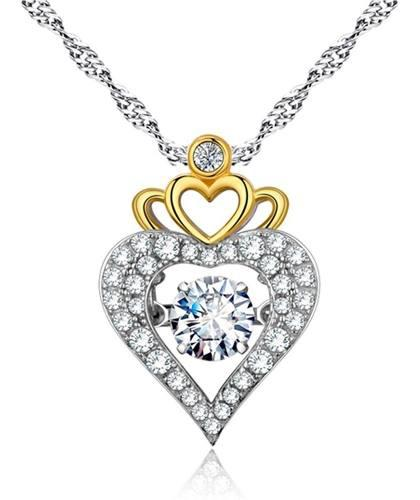 Regalo Amor San Valentin Collar Corazón Princesa Swarovski