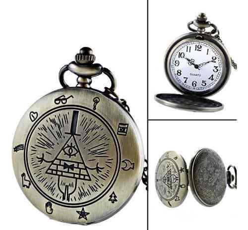 Reloj De Bolsillo Gravity Falls Vintage Envío Gratis Dhl