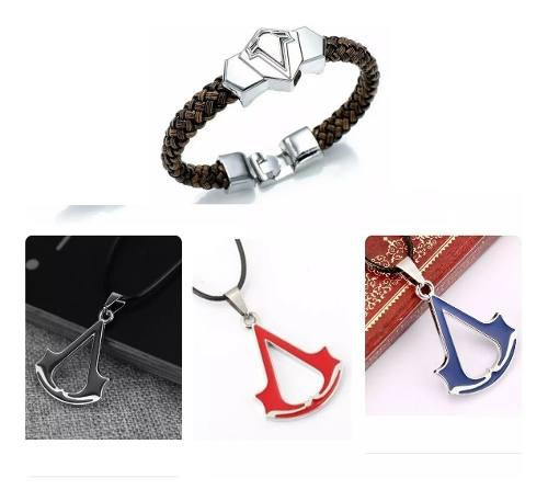 Set Collar Y Pulsera Assassins In Creed Envío Gratis
