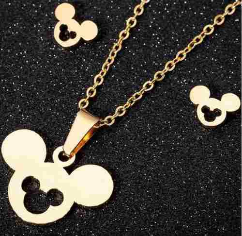 Set Mickey Mouse Collar Y Aretes Disney Envio Gratis