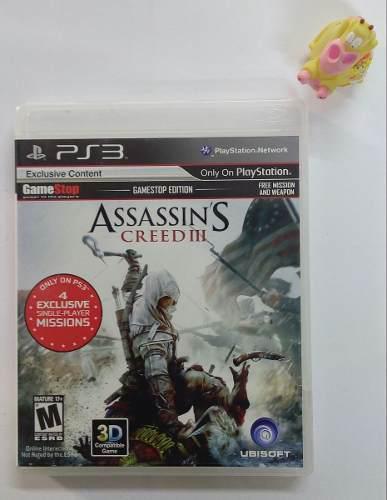 Assassin's Creed 3 Ps3 Play Station Un Juegazo!!:)