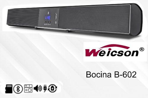 Barra De Sonido Para Hogar Con Bt,usb,fm,aux B602 Weicson