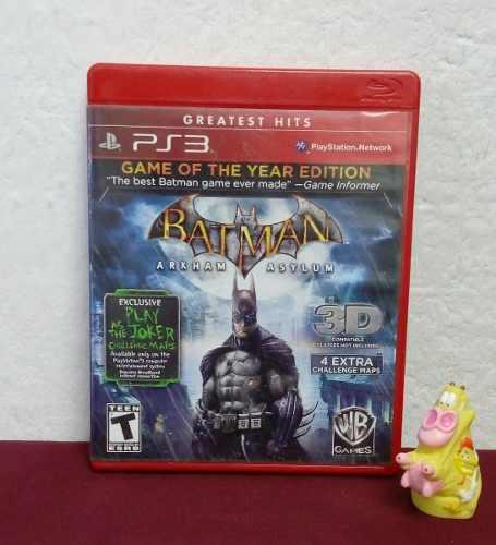 Batman Arkham Asylum Play Station Ps3