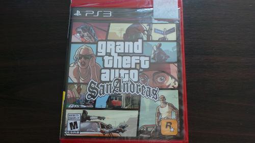 Grand Theft Auto San Andreas Ps3 Nuevo Sellado
