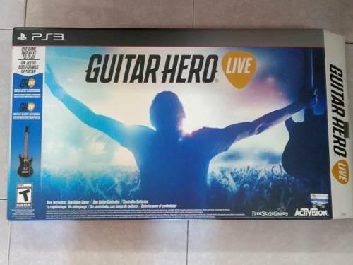 Guitar Hero Live Para Ps3 (videojuego En Cd Y Guitarra)